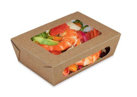 Contenitori per alimenti in cartoncino finestrati